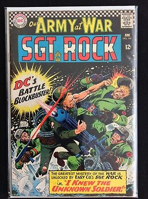 OUR ARMY AT WAR #168 Lot of 1 DC Comic Book - 1st Unknown Soldier!