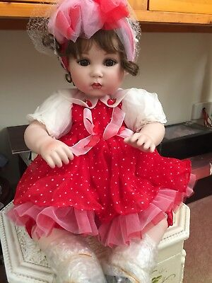 "Strawberries & Cream By Marie Osmond- Large 16"" Sitting Doll -  Sale Price !!!"