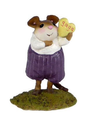 HE'S GAGA FOR U! by Wee Forest Folk, WFF# M-564, Valentine Mouse LTD 300