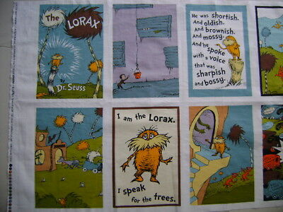 Dr Seuss The Lorax Patchwork Panel