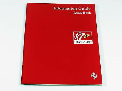 Ferrari 50th Anniversary Information Guide Road Book Brochure 1997