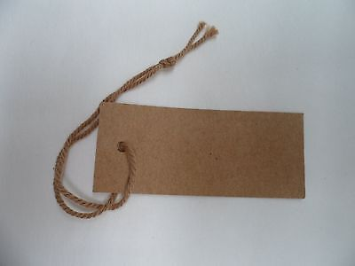 50 Small Brown Recycled Swing/Hang /Jewellery Tags 20 mm x 60 mm