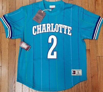 85d3c10ac Larry Johnson  2 Charlotte Hornets Mitchell   Ness Mesh NBA Name   Number  Jersey