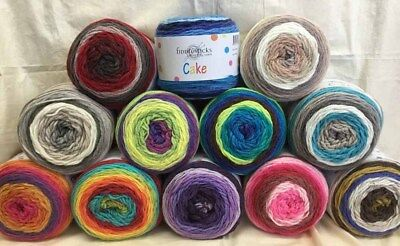 Cake Wool Yarn 10 Ply  200g Balls- Fiddlesticks with Free Pattern-Great Value!