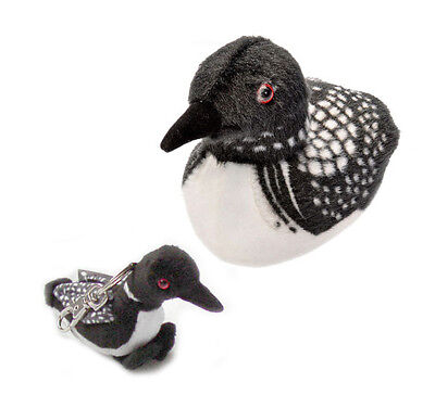 AUDUBON WILD REPUBLIC Common Loon NWT BIRD with sound plus Loon Plush Keychain