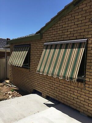 Canvas Window Awnings 1800w x 1200 drop (more in stock, please read details)