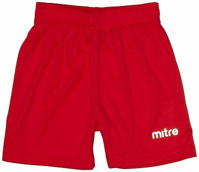 Mitre T50101 Metric Football  Mens Shorts, Red - XSY waist 20-22
