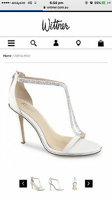 Wittner Ladies Shoes White Leather Heels Adrina Size 40 BNWT Wedding Style