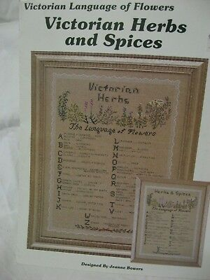 Victorian Herbs Spices Language of Flowers Cross Stitch Sampler Alphabet Pattern