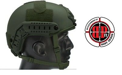 High Cut (Special Forces)  Ballistic KEVLAR Helmet-OD Green-Small/Medium Size--