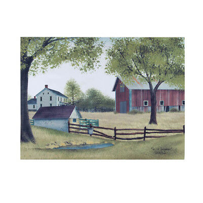 New Primitive Farm THE OLD SPRING HOUSE Red Barn Farmhouse BILLY JACOBS Picture
