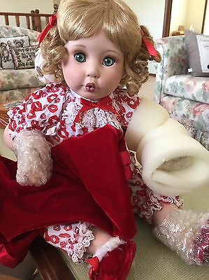 "BEDTIME KISSES  by Marie Osmond- Large 16"" Sitting Doll - BNIB- RARE DOLL !!!"