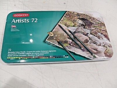 NEW SET OF 72 - DERWENT ARTISTS 72 - Blendable Colour Pencils - Made in the UK