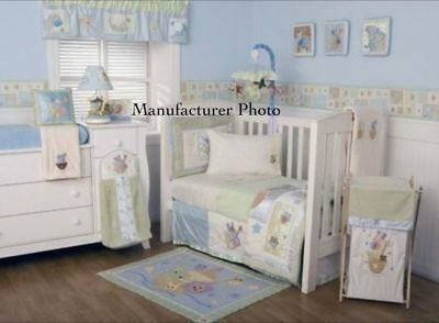 Kidsline Baby Bedding Crib Cot Bumpers Quilt Sheet Set-7 Piece Silver Lining Set