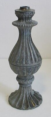Vintage Cast Metal Table Lamp Base Column Ornate Steampunk Shabby Chic Victorian