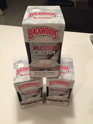 Russian Cream Backwoods 1 Pack with 5 *Rare and Discontinued*