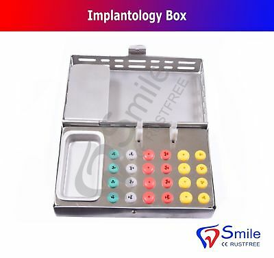 24 Silicone Pads Dental Implantology Box - Burs Holder Endo Box Dental Implants