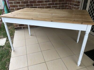 Dining Table  French Provincial Timber Top - 140 x 80 x 77(h)