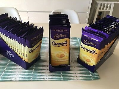 35 X Cadbury Caramilk 190gm Blocks Limited Edition EXP 22/1/19 Not Recalled Ones