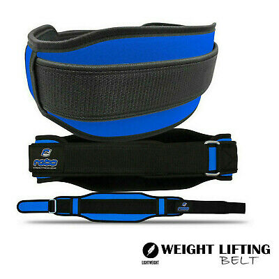 Neoprene Weight Lifting Belt Back Support Lumber Gym Fitness Exercise Belt Blue