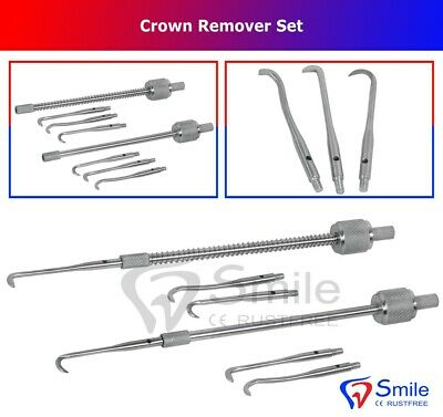 2 x Morell Shepherd's Wand CR3 With & Without Spring - Crown Remover For Denture