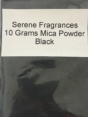 Mica Powder Cosmetic Grade. Candles. Bath bombs. Soap. Black. 10g.