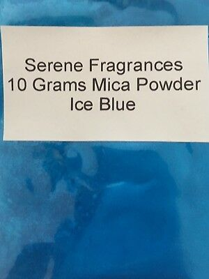 Mica Powder Cosmetic Grade. Candles. Bath bombs. Soap. Ice Blue. 10g.