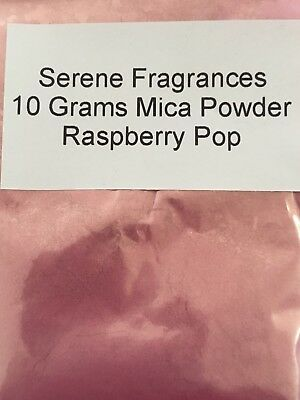 Mica Powder Cosmetic Grade. Candles. Bath bombs. Soap. Raspberry Pop. 10g.