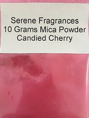 Mica Powder Cosmetic Grade. Candles. Bath bombs. Soap. Candied Cherry. 10g.