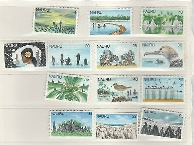 Nauru 13 MUH our island home definitive stamps from $5 to 1c Current Value  $17
