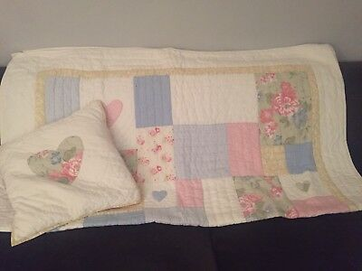 Little White Company Quilt And Cushion, With Pad