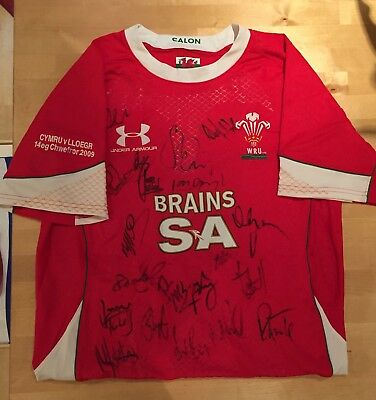 Signed Wales Rugby Shirt - 2009 versus England (Limited Edition)