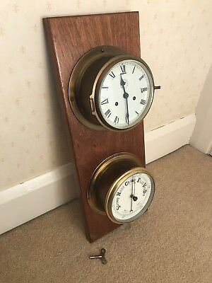 Vintage brass Ships Clock Nautical