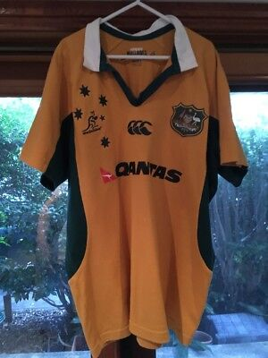 Australia Wallabies Canterbury rugby jersey large L 2006