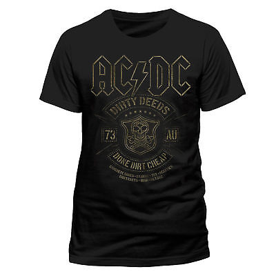 ACDC Official Dirty Deeds Done Cheap Rock Heavy Metal Tee T-Shirt Mens Ladies