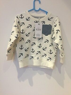 Bnwt M&S Toddler Jumper/sweater - Nautical style - 1 1/2-2 years