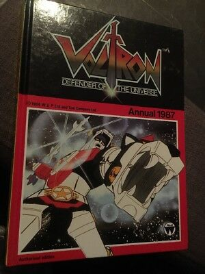 Voltron defender of the universe annual 1987 hardcover book