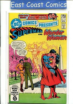 Dc Comics Presents #32 - Superman/wonder Woman - Very Fine/near Mint - Dc