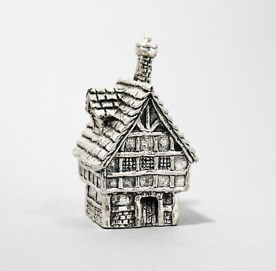 Royal Hampshire Art Foundry silver plate miniature Tudor house paperweight