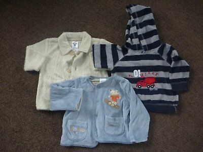 3 Baby Boys Hooded Jumper & Jackets Size 00