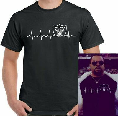 Oakland Raiders T-Shirt Ice-Cube Mens NWA Straight Outta Compton As Worn By