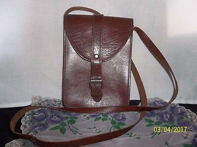 Vintage, Leather, Cross Body, Purse, Shoulder Bag, Made in Germany