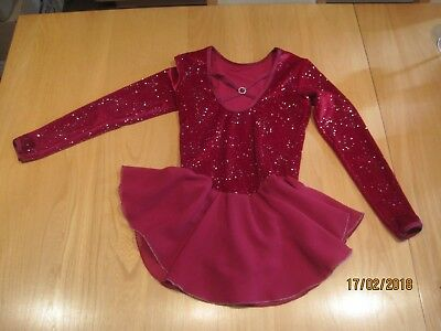 Ice Skating Dress Girls Red used once