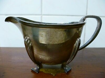 Antique, Silver Plated Sauce Boat. Antique 'arundel Plate' Gravy / Sauce Boat.