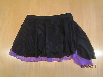 Girls Ice Skating Skirt Black and Purple Excellent Condition