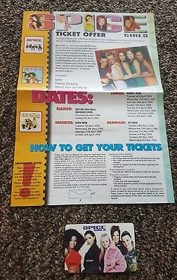 Spice Girls fanclub ID card, invite letter and tour prog
