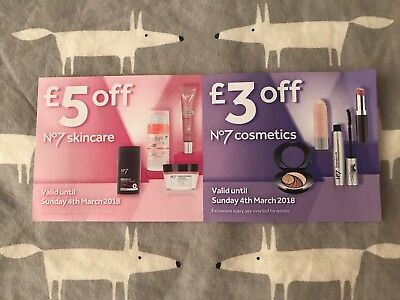 Boots No7 Vouchers, £5 Off Of Skincare & £3 Off Of Make Up, Valid Until 04/03/18