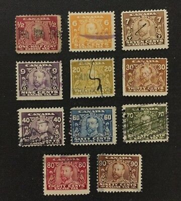Canadian Stamp Selection of Used Excise