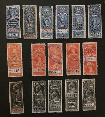 Canadian Stamp Selection of Used Revenue