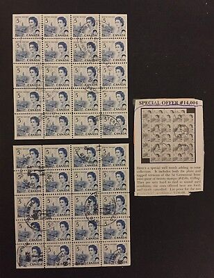 Canadian Stamp Variety (458b, 458q) as Recieved Used